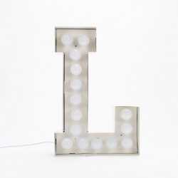 Lettre géante LED Vegaz, Seletti l