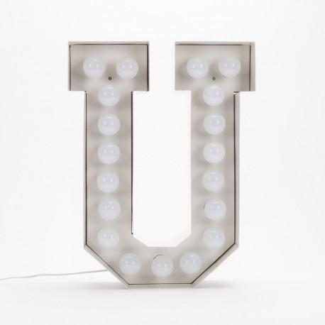 Lettre géante LED Vegaz, Seletti u