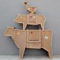 Commode Vache Sending Animals, Seletti bois
