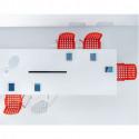 Arki bureau design avec passage de câbles, Pedrali blanc 240x120 cm