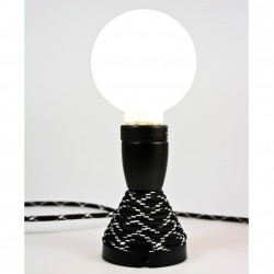 Table lamp, Nud Collection noir rayures blanches