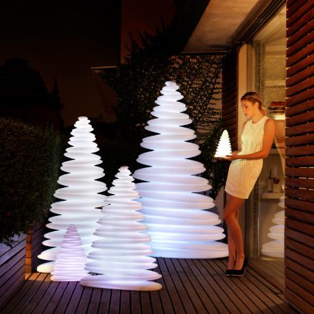 sapin lumineux chrismy vondom blanc hauteur 50 cm cerise sur la deco. Black Bedroom Furniture Sets. Home Design Ideas