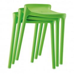 Happy 491 tabouret, Pedrali vert
