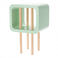 Table d'appoint carrée Open Minded Leitmotiv vert amande