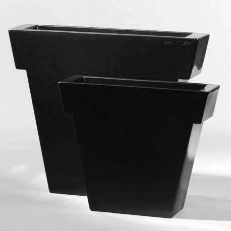 Pot Il Vaso laqué, Slide Design noir Petit modèle laqué