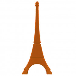 Tour Eiffel déco, Qui est Paul? orange