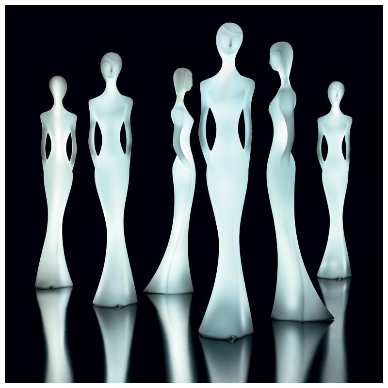 Lampadaire design penelope myyour lumineux led blanc for Lampadaire exterieur design