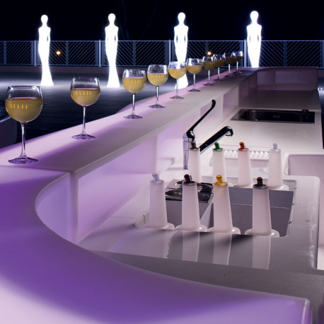 Module Bar Baraonda station cocktail avec évier, version lumienuse Led RGBW, MyYour