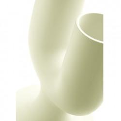 Pot design Cactus, Plust ivoire