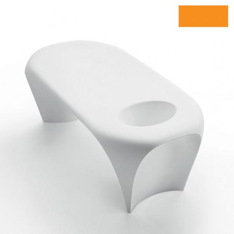Table basse design Lily avec bac à glace, MyYour orange