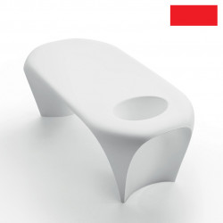 Table basse design Lily avec bac à glace, MyYour rouge