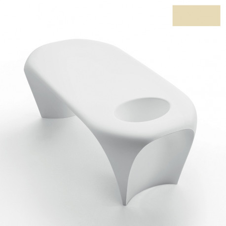 Table basse design Lily avec bac à glace, MyYour ivoire