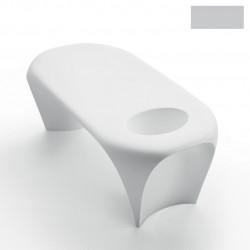 Table basse design Lily avec bac à glace, MyYour gris clair