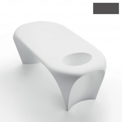 Table basse design Lily avec bac à glace, MyYour gris anthracite