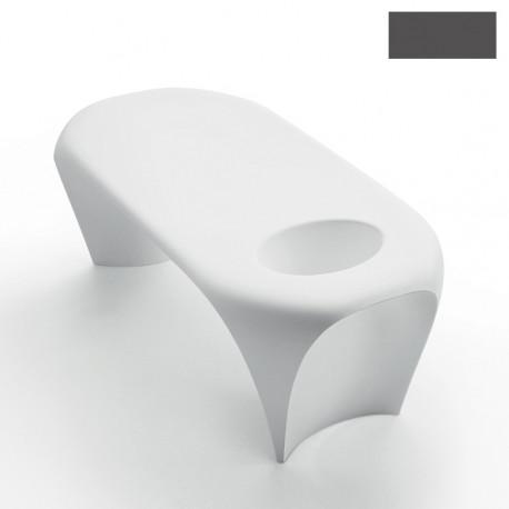 Table basse design Lily avec bac à glace, MyYour gris anthracite