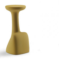 Tabouret de bar design Armillaria Stool, Plust jaune curry