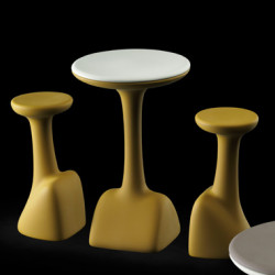 Table haute Armillaria Stool, Plust jaune curry