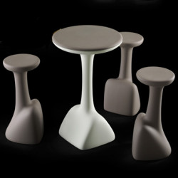 Table haute Armillaria Stool, Plust ivoire