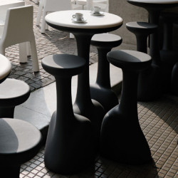 Table haute Armillaria Stool, Plust gris anthracite