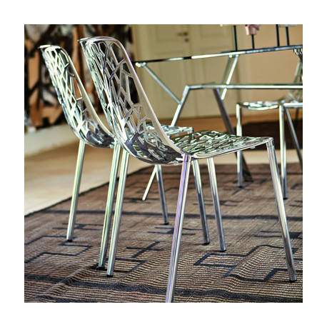 Chaise alu design Forest, Fast chrome