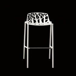 Tabouret de bar design Forest, Fast blanc