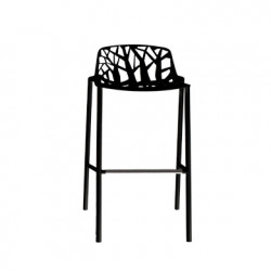 Tabouret de bar design Forest, Fast noir