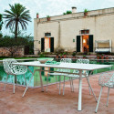 Table rectangulaire Radice Quadra, Fast blanc Longueur 200 cm