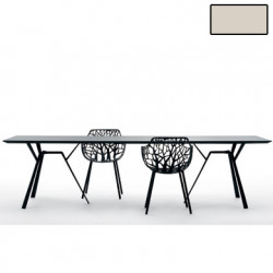 Table rectangulaire Radice Quadra, Fast or perlé Longueur 200 cm