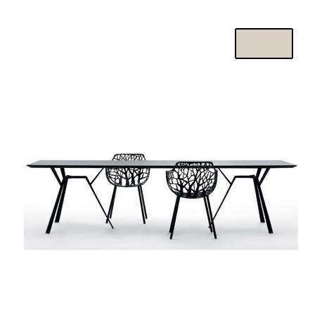Table rectangulaire Radice Quadra, Fast or perlé Longueur 200 cm