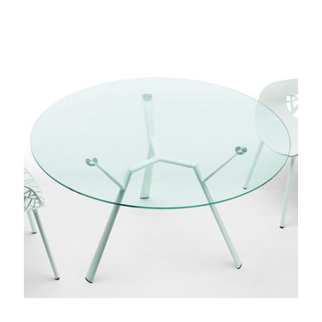 Table Ronde 130 Cm.Table Ronde Radice Quadra Fast Blanc Diametre 130 Cm