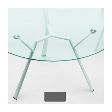 Table ronde Radice Quadra, Fast gris métal diamètre 130 cm
