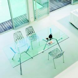 Radice Quadra, Fast aluminium poli table rectangulaire L150cm