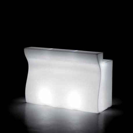 Module droit Bar Bartolomeo, Plust blanc Lumineux LED RGB fil