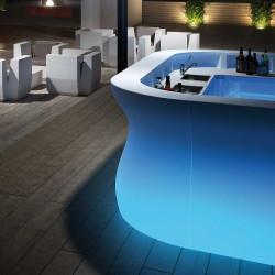 Elément d'angle Bar Bartolomeo, Plust blanc Lumineux LED RGB fil