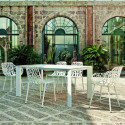 Table Grande Arche, Fast blanc L220 cm