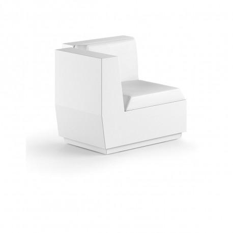 Fauteuil design élément d'angle Big Cut, Plust blanc