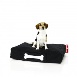 Pouf chien Stonewashed , Fatboy noir Taille S