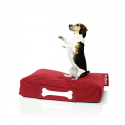 Pouf chien Stonewashed , Fatboy rouge Taille S