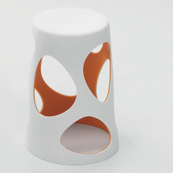 Tabouret design Liberty, MyYour orange, hauteur 45 cm