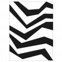 Tapis d'extérieur Zebra, Vondom noir / blanc