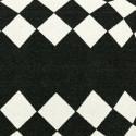 Tapis d'extérieur Marquis, Vondom noir / blanc Rond