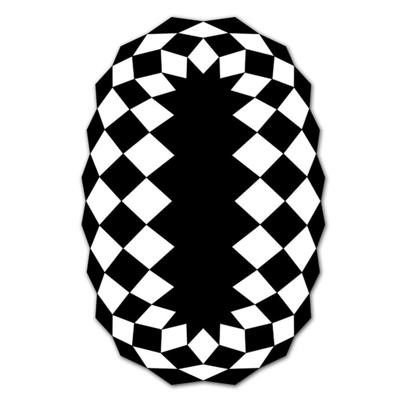 tapis d 39 ext rieur marquis vondom noir blanc rond. Black Bedroom Furniture Sets. Home Design Ideas