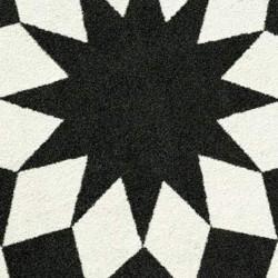 Tapis d\'extérieur Marquis, Vondom noir / blanc Ovale