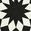 Tapis d'extérieur Marquis, Vondom noir / blanc Ovale