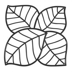 20 carrés séparations design Leaf, Koziol noir opaque