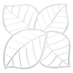 20 carrés séparations design Leaf, Koziol cristal transparent