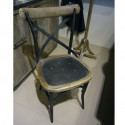 Lot de 2 chaises vintage Parnasse, Hanjel noir