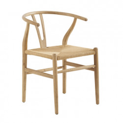 Lot de 2 chaises Shanghai, Hanjel naturel