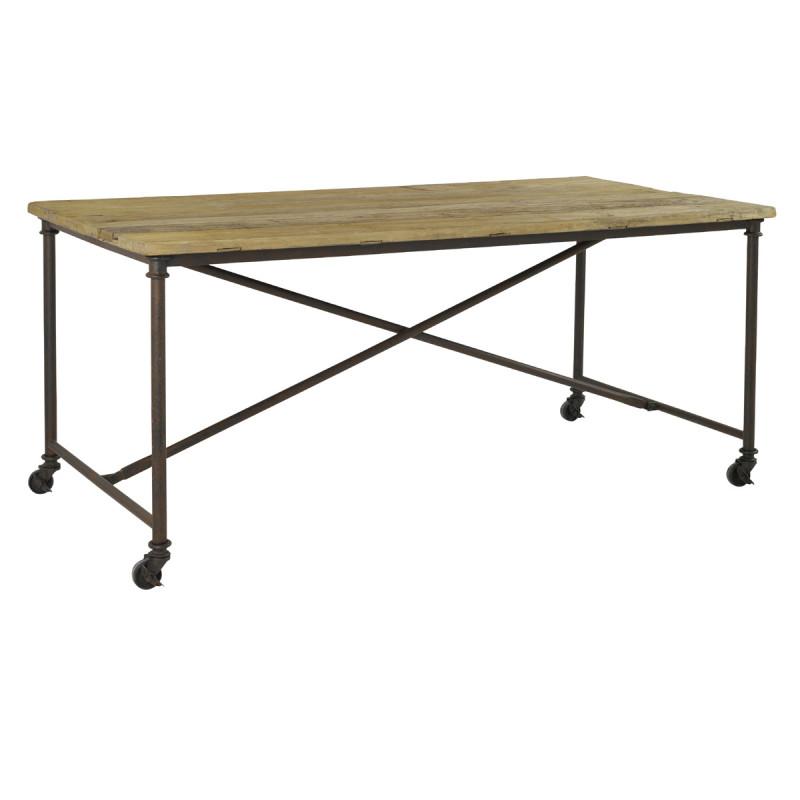 table de repas meribel hanjel m tal et bois l180 cerise. Black Bedroom Furniture Sets. Home Design Ideas