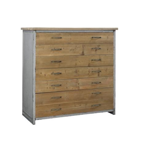 Commode 7 tiroirs Bale, Hanjel métal et bois